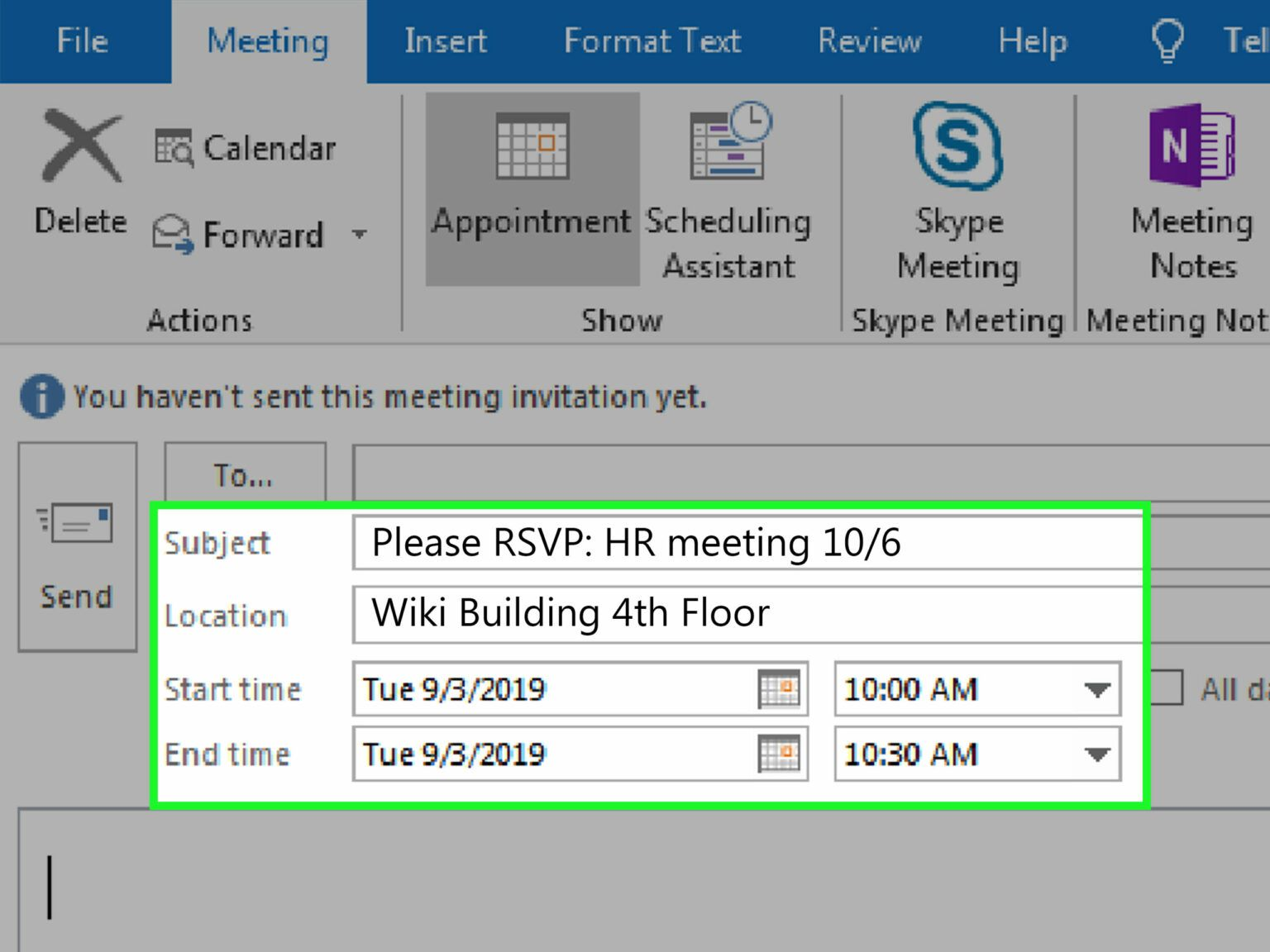 3 Ways To Write An Email For A Meeting Invitation Wikihow Intended For Outlook Meeting Invite Template Write An Email Best Templates Invitation Printing