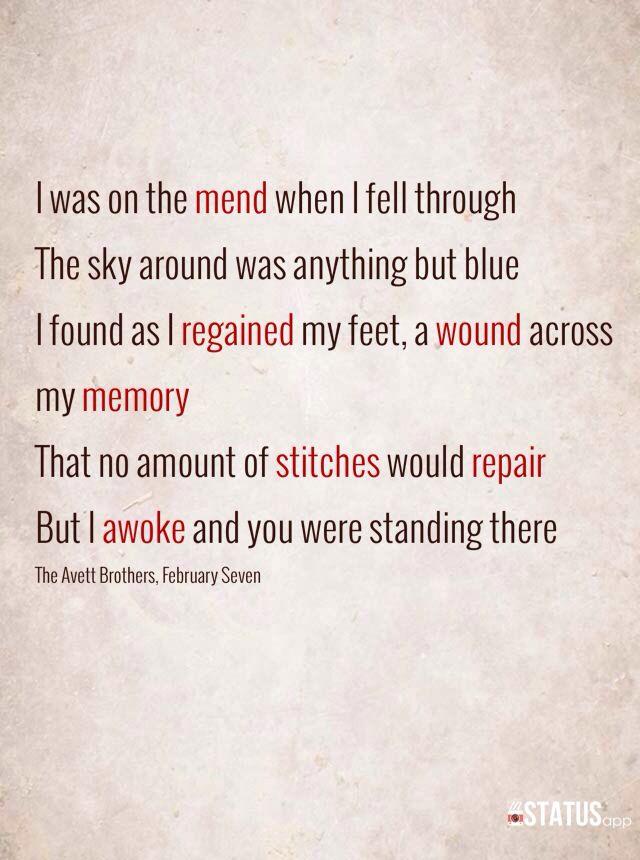 Lyric lyrics to wildwood flower : February Seven.. My favorite Avett Brothers song   Lyrics and ...