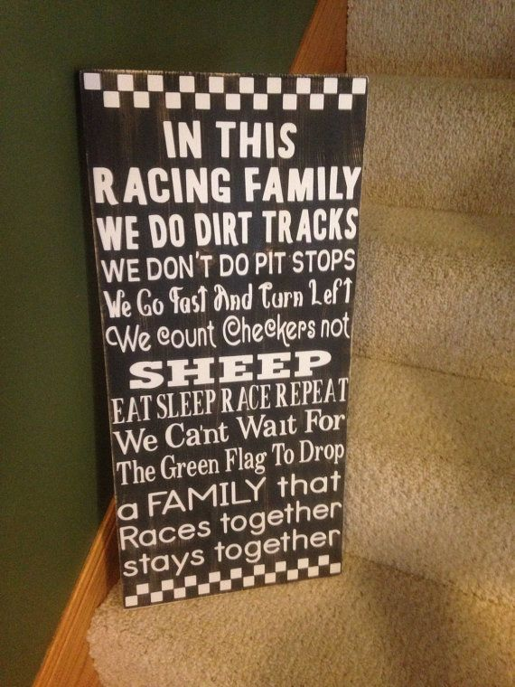 In This Racing Family wood sign by PrimGifts on Etsy