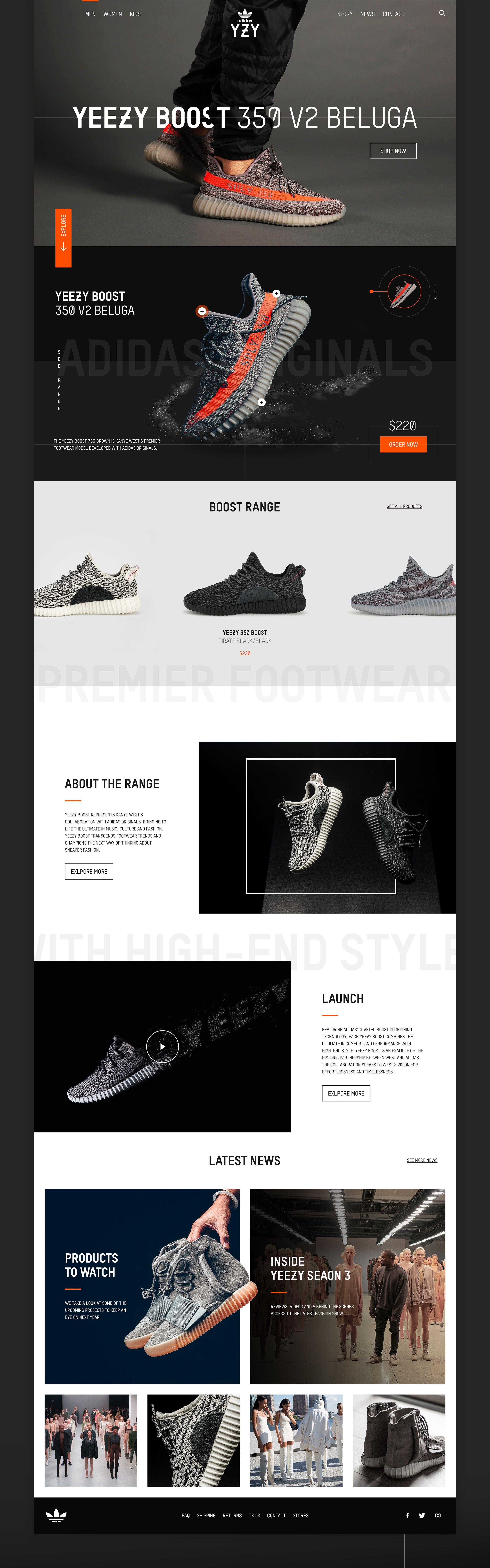 Adidas Yeezy Boost Concept on Behance