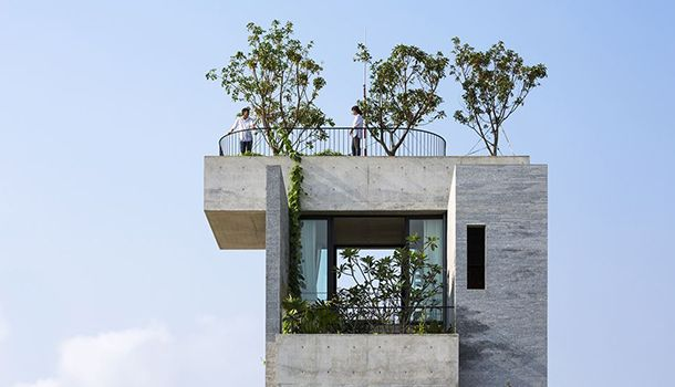 Concrete residence in Vietnam. Architects: Vo Trong Nghia Architects Agency