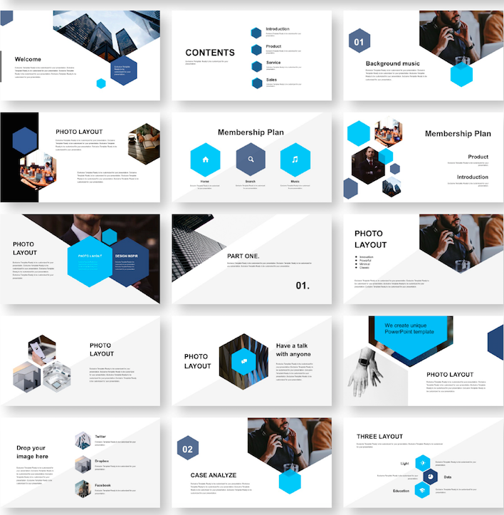 Business Report Slide Presentation Template Original And High Quality Powerpoint Templates Presentation Slides Templates Powerpoint Templates Business Powerpoint Templates