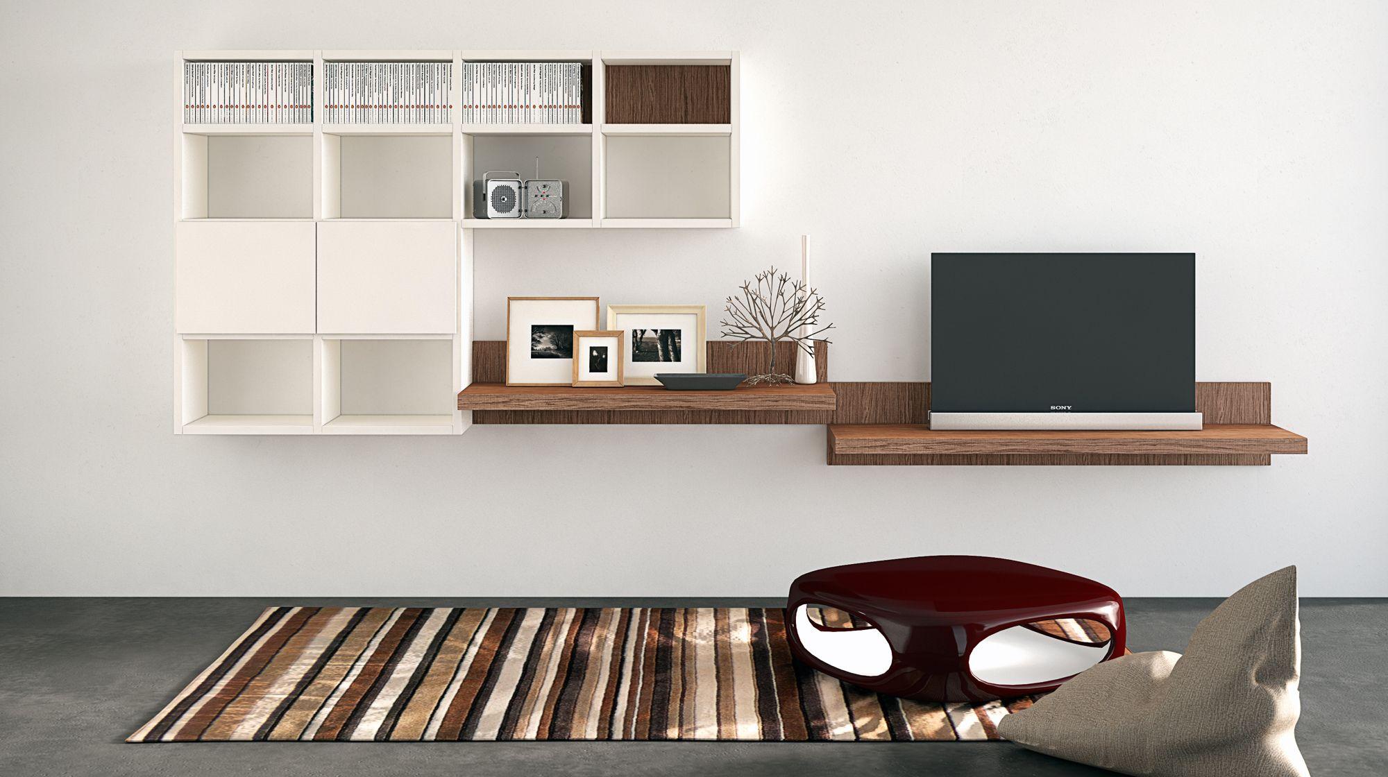 MENSOLE - Le nuove mensole porta tv e porta oggetti si combinano con gli altri elementi living ...