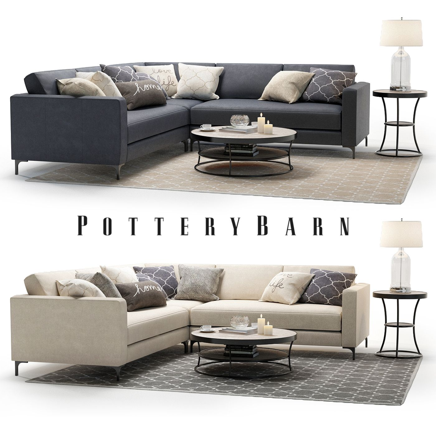 Pottery Barn / Jake Sofa set #1 with Tables & Decor in 2019 ...