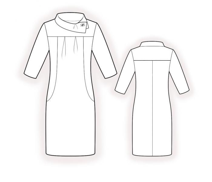 Knit Dress - Sewing Pattern #4393. Made-to-measure sewing pattern ...