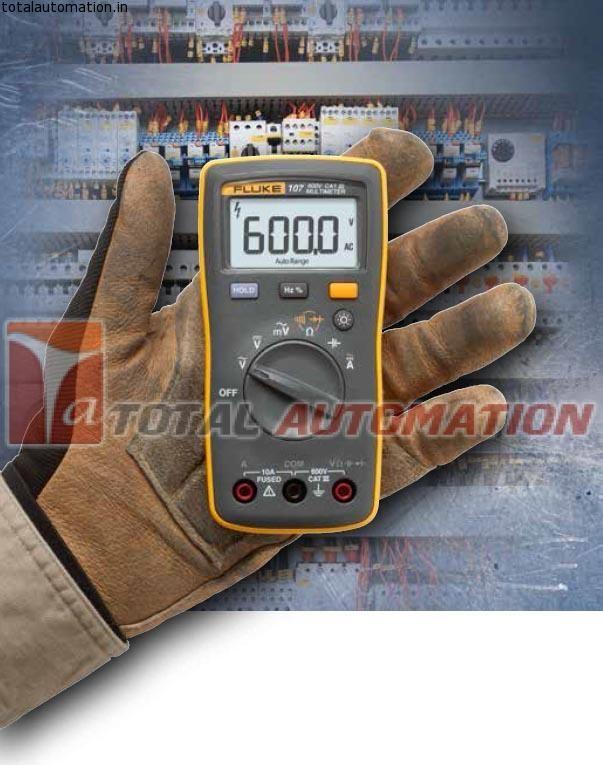 Fluke 107 Digital Multimeter I400e Clamp Bundle Total Automation The Fluke 107 Digital Multimeter Is Made To Fit The Way Multimeter Digital Measurement Tools