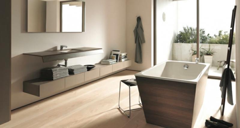 vasca da bagno con rivestimento in legno. #therapy4home #bagno ... - Bagni Moderni Legno