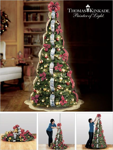Thomas Kinkade Pre-Lit Pull-Up Christmas Tree - Thomas Kinkade Pre-Lit Pull-Up Christmas Tree Christmas 2013