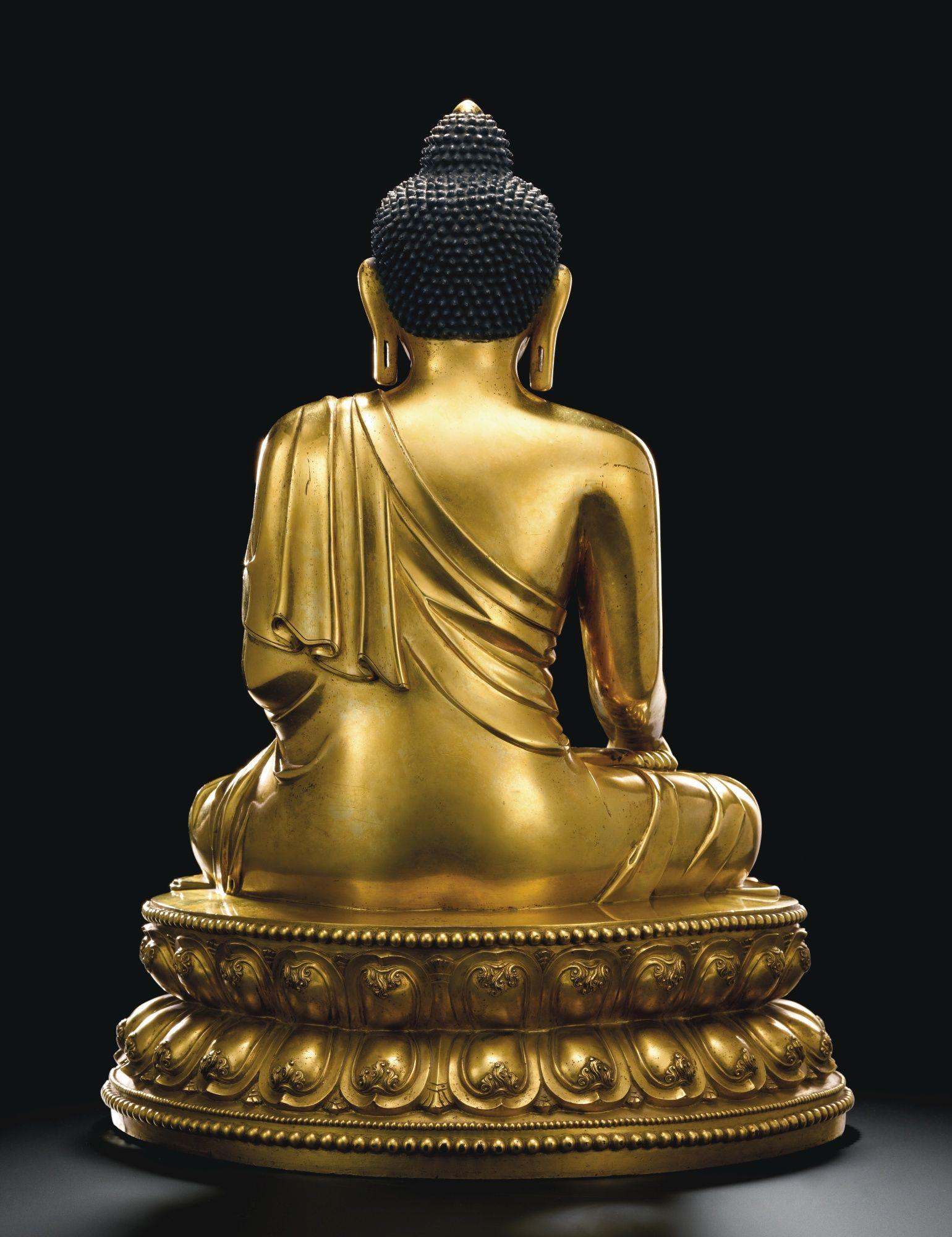 明永樂 鎏金銅釋迦牟尼佛坐像<br>《大明永樂年施》款 | Lot | Sotheby's