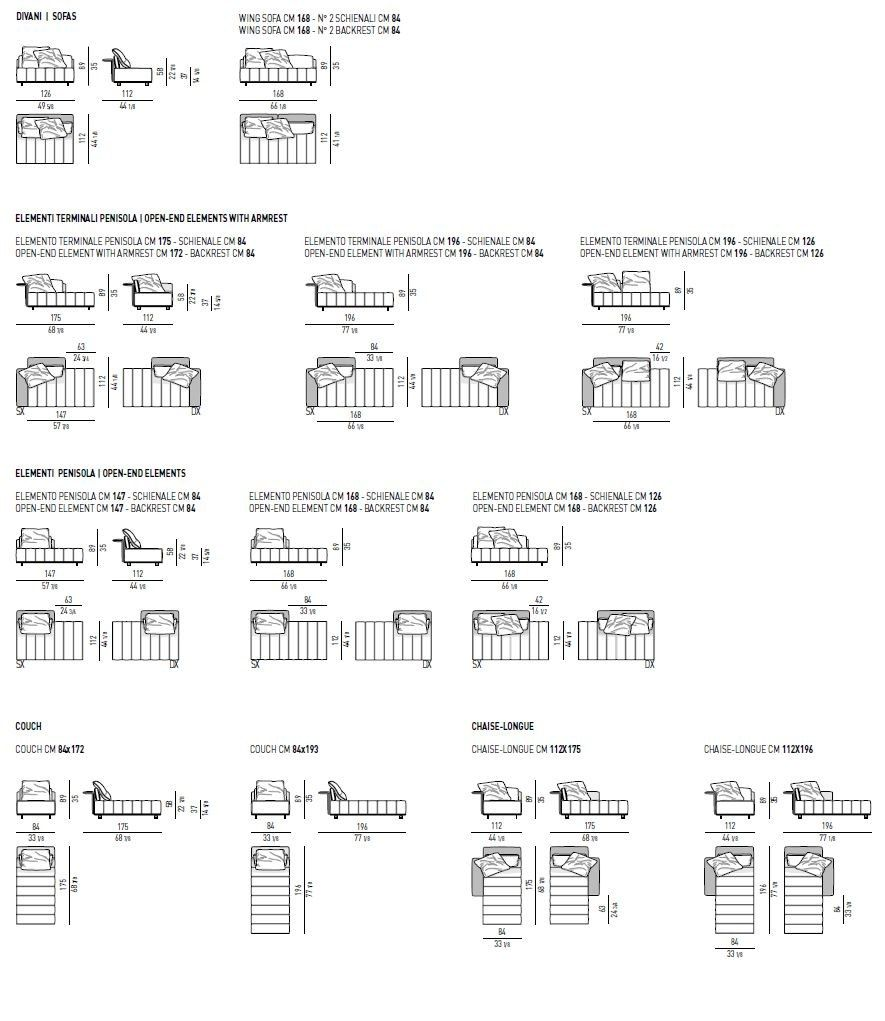 Sofa Freeman Tailor By Minotti Design Rodolfo Dordoni 120