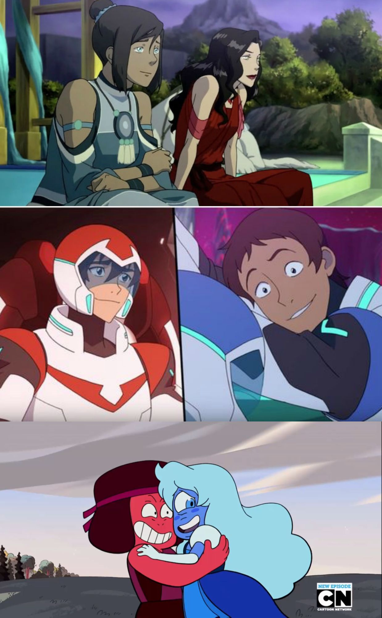 if it's red and blue, it's gay (Korra/Asami || Keith/Lance