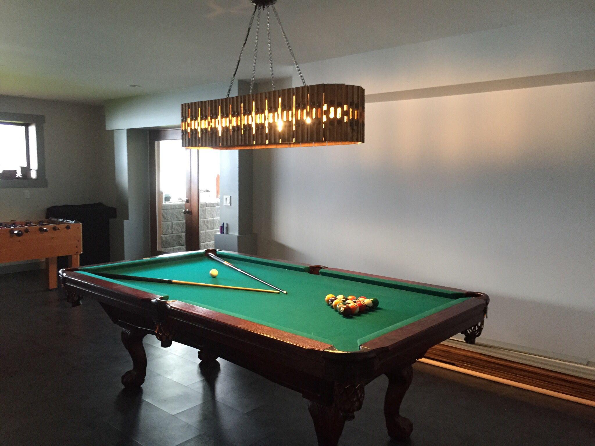 Unique pool table light Pool table lighting, Pool table