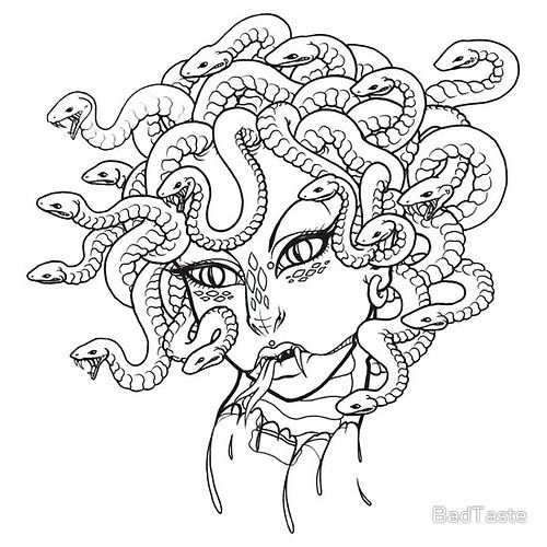 easy medusa drawing coloring pagesjpg 500500