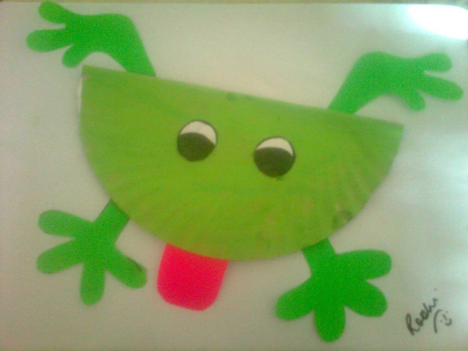 preschool frog activities with paper plates   Paper Plate Craft - Jumping Frog & preschool frog activities with paper plates   Paper Plate Craft ...