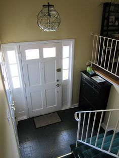 Split Level Home Entryway Ideas Hemnes Shoe Cabinet In A Foyer Entry Larger Than Mine
