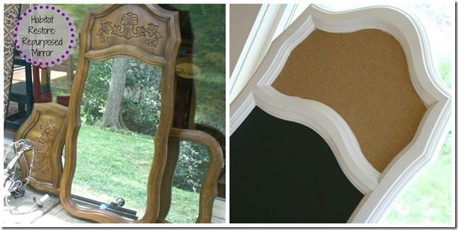 Habitat restore restyle project repurposed mirror the for Homemakers furniture project