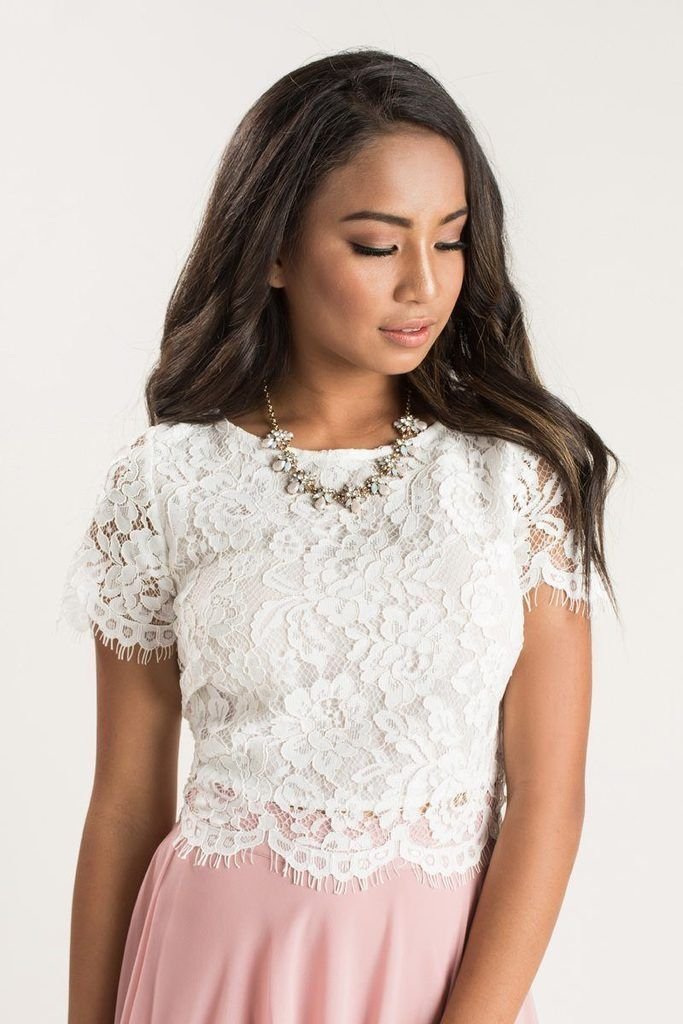 Ellie Short Sleeve Lace Top Lace Short Sleeve Top Lace Tops White Lace Top