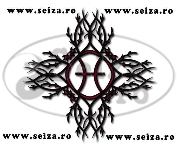 Original Tribal Tattoo Combined With The Astrological Sign For