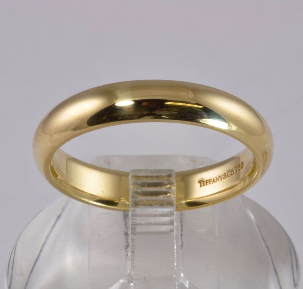 men's tiffany & co wedding band - 18kt gold - size 11 - classic