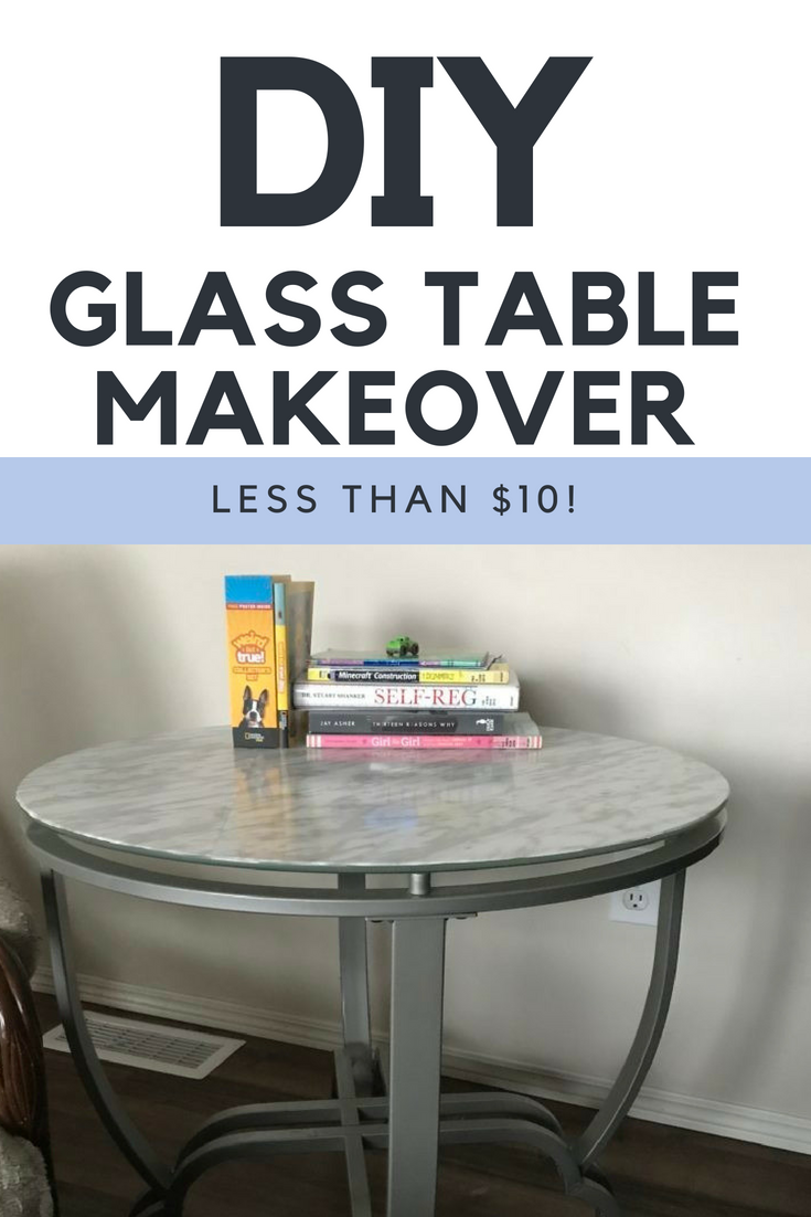 Diy Glass Table Makeover Table Makeover Glass Coffee Table