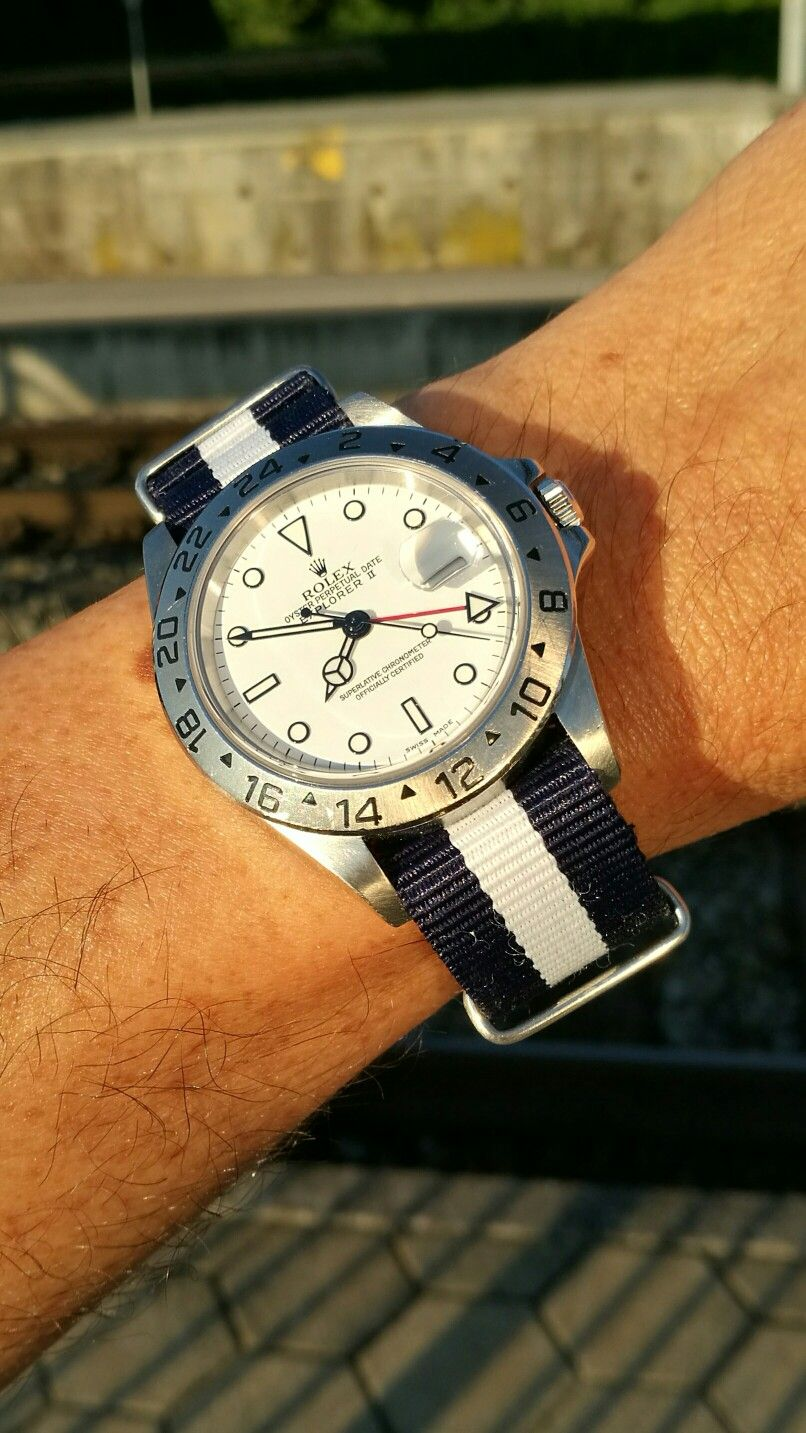 Rolex Explorer II on a NATO strap …