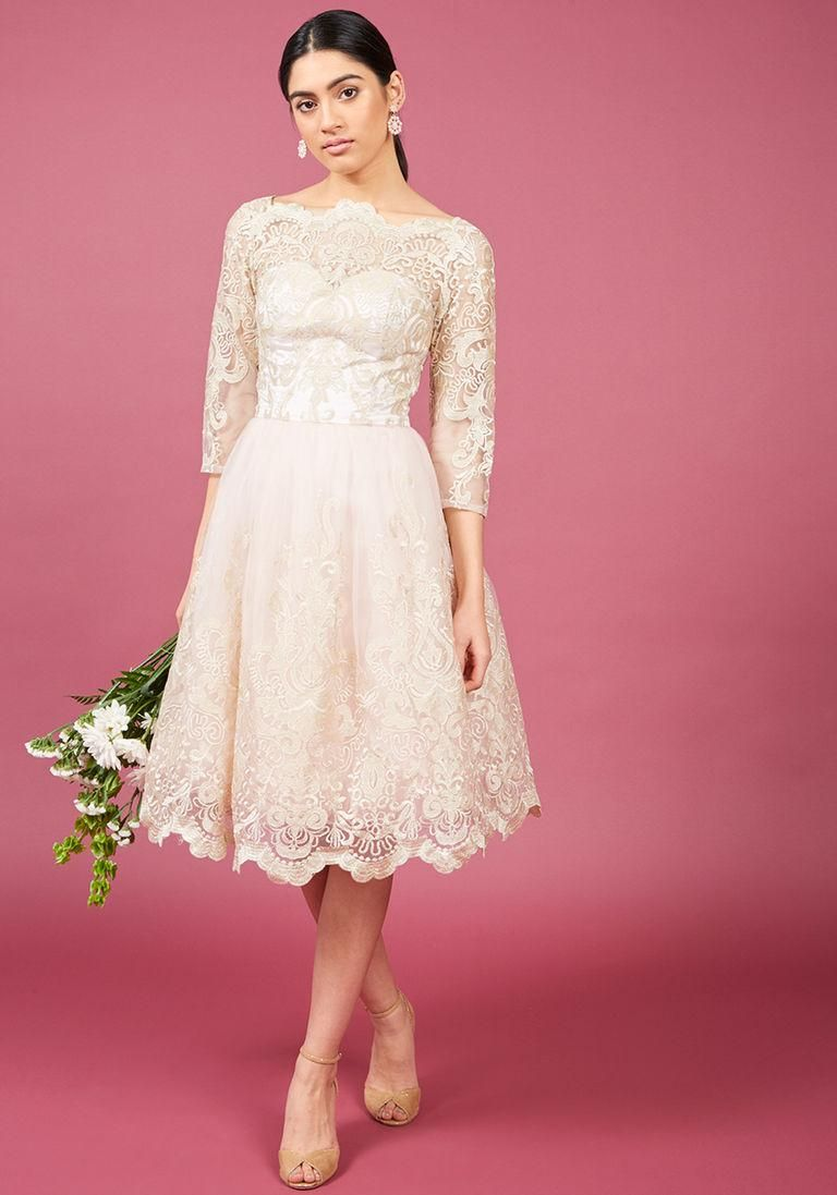 AdoreWe #ModCloth Chi Chi London Chi Chi London Gilded Grace Lace ...