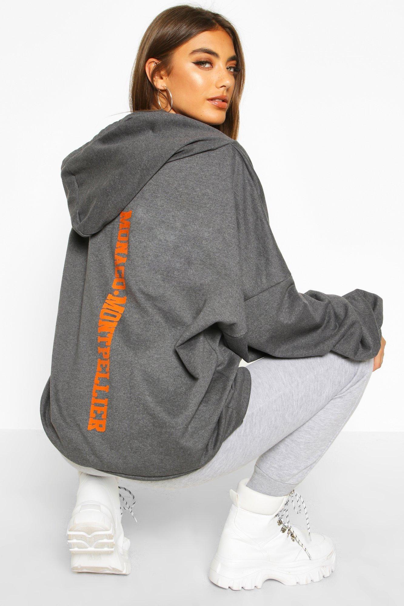 Premium Extreem Oversized Hoodie Met Rugopdruk Boohoo Nederland Hoodie Print Hoodies Hoodies Womens [ 2000 x 1333 Pixel ]