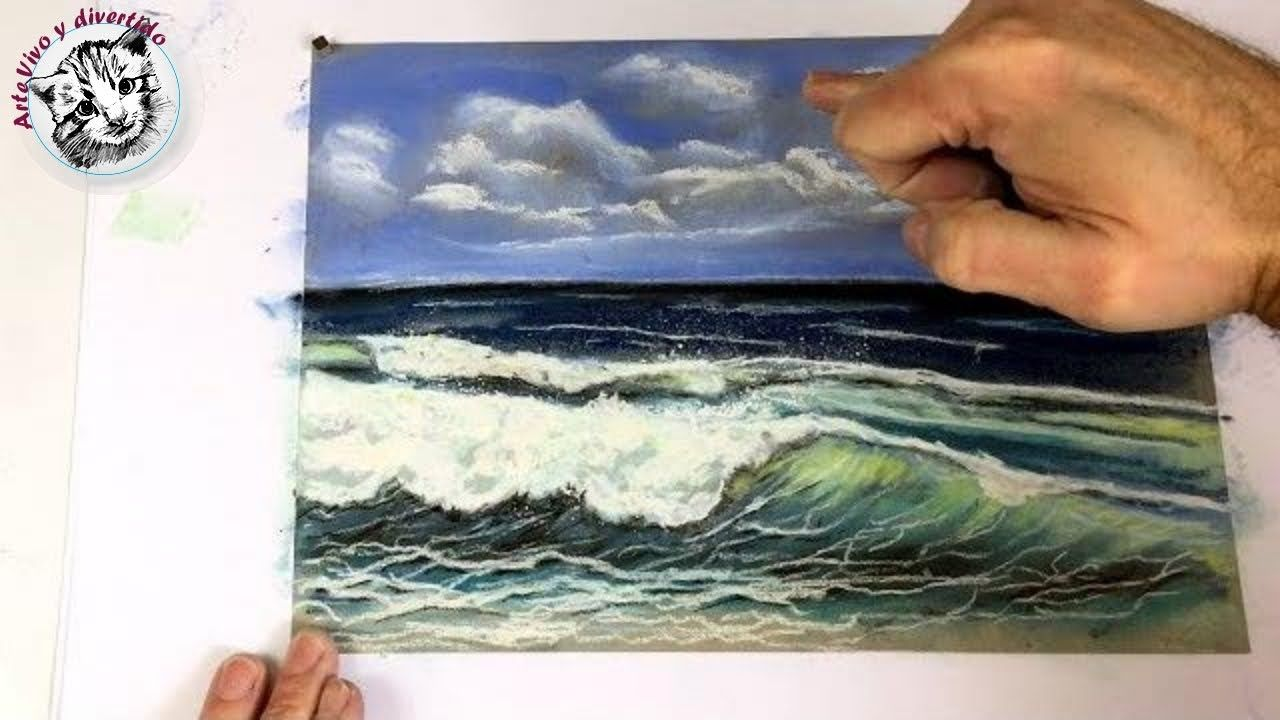 Dibujo Al Pastel 3 Como Dibujar Una Marina Con Pasteles Gises Pastel Pastel Dibujo Pintar Con Pastel Gises Pastel