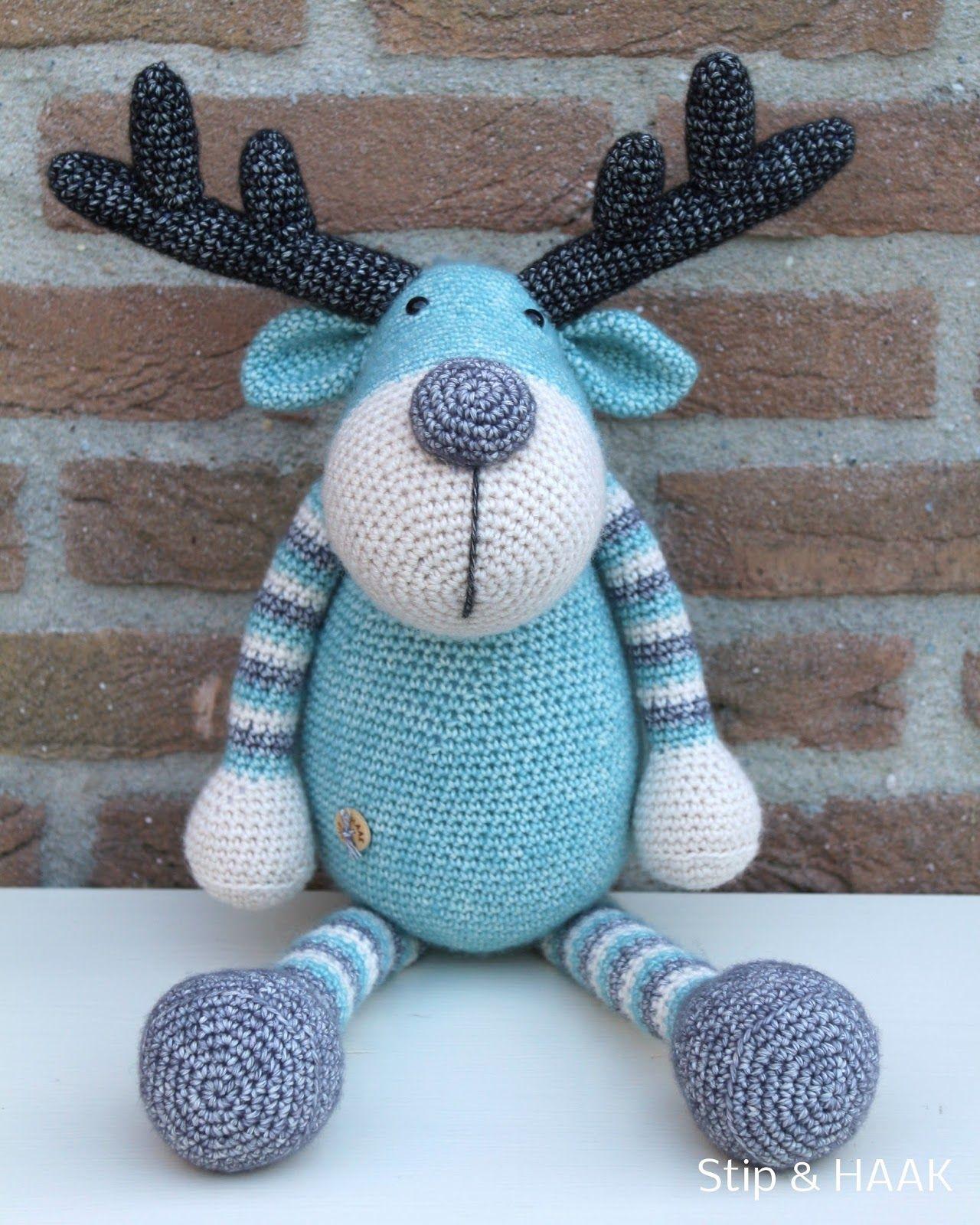 Stip & HAAK: Stoere Ralf   I Love Crochet   Pinterest   Elch, Häkeln ...