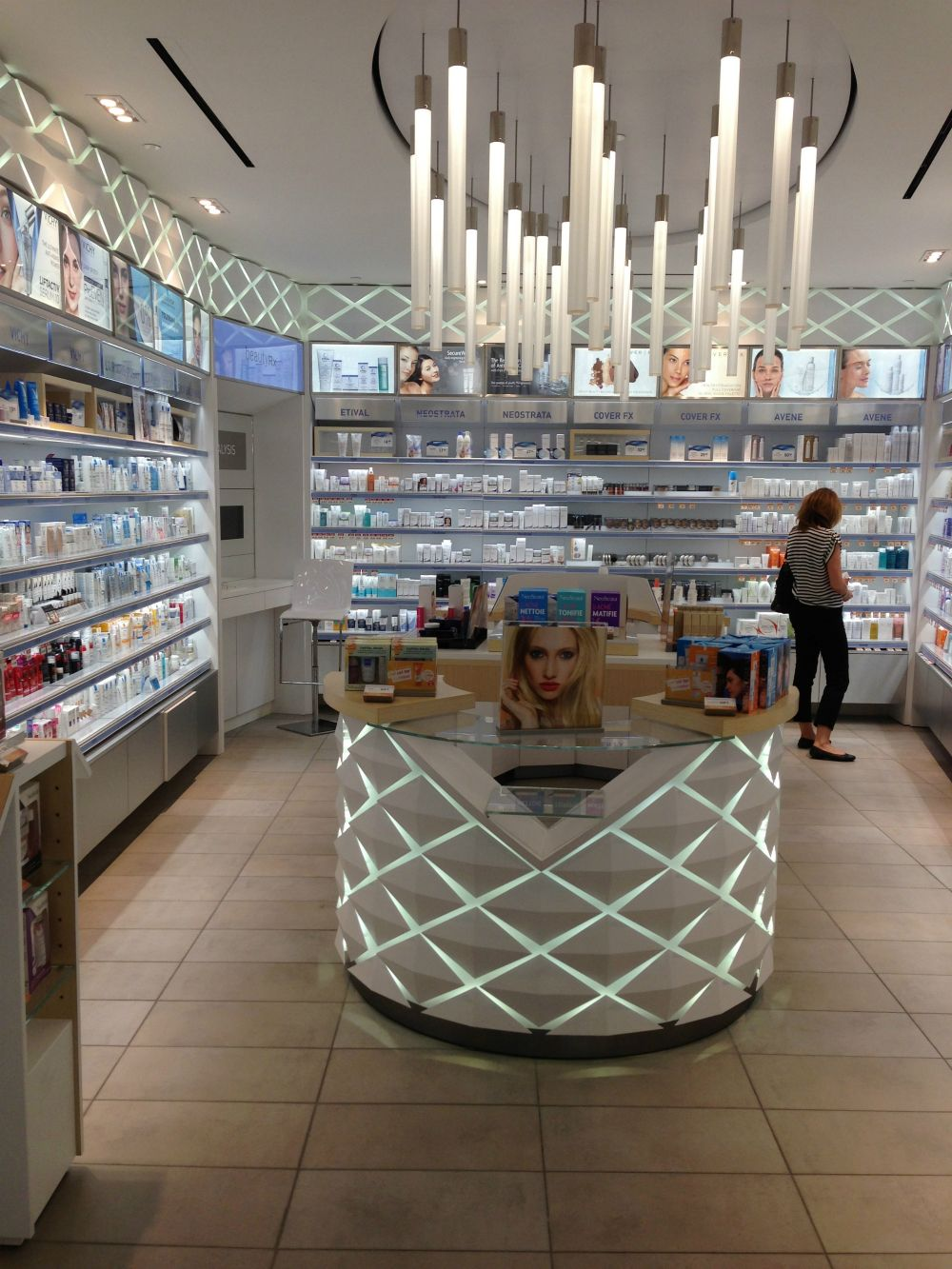 The Derm Desk at the newly renovated Shoppers Drug Mart Beauty Boutique at Bayview Village, Toronto.