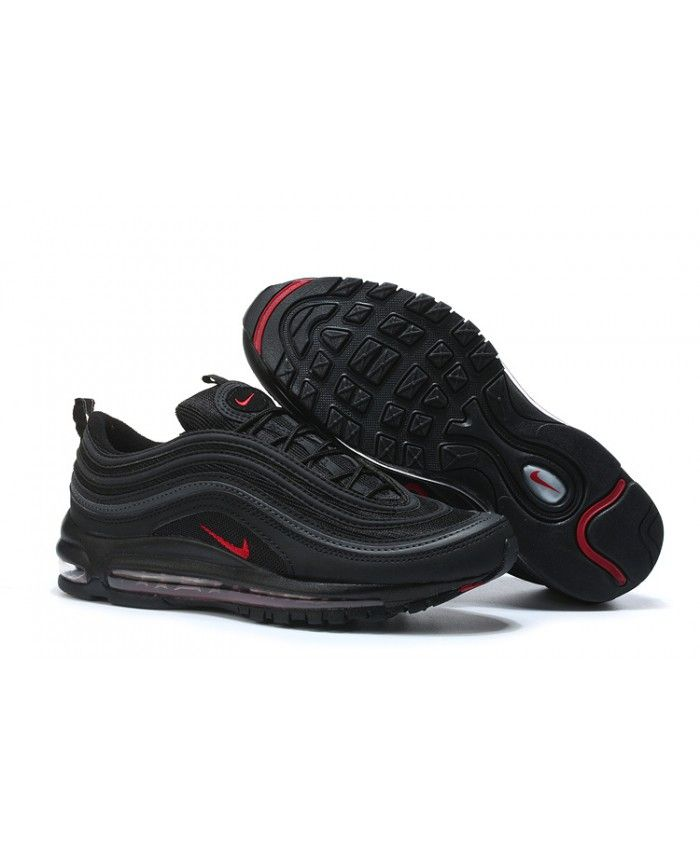 a144ca1c3f3 Nike Air Max 97 Black Red Fashion Trainers Sale UK