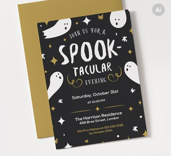 Spooktacular Halloween Party Invite by ClementineCreative on - halloween invitation template