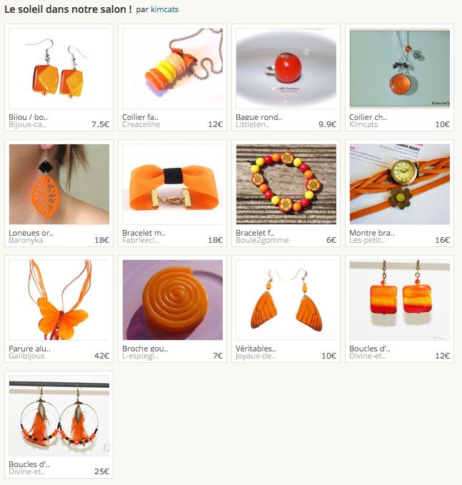 Les boucles d'oreilles aquarelle dégradé couleur feu et créoles à plumes tigrées oranges et noires.