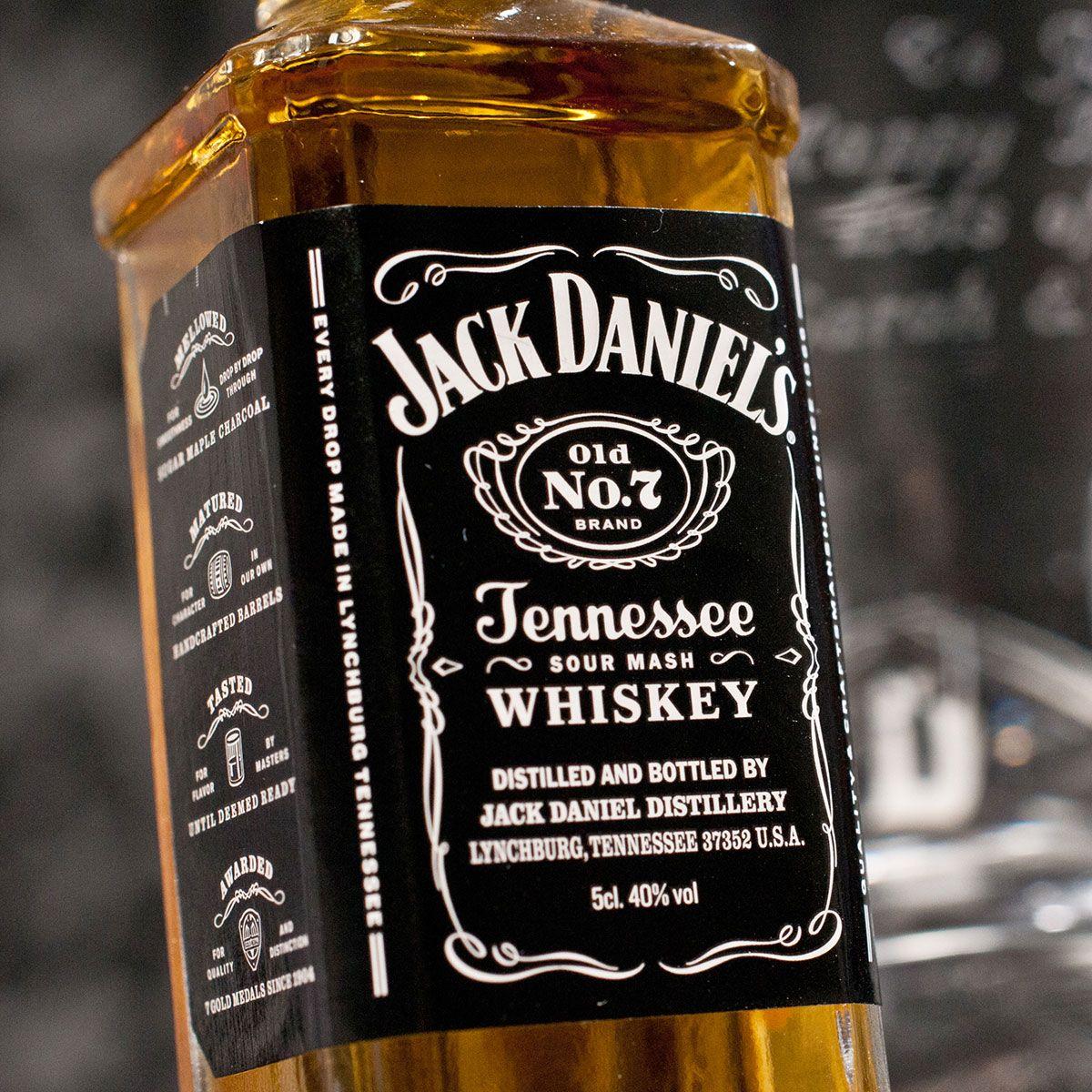 Engraved crystal whisky tumbler jack daniels gift set