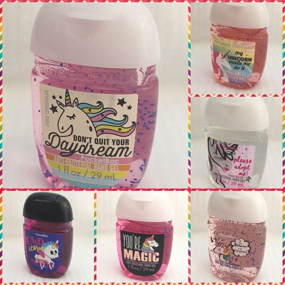 Bath And Body Works Unicorn Collection Pocketbac Hand Sanitizer