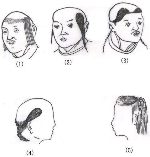 khitan hairstyles tartary ancient china ancient civilizations Gothic Hairstyles Girls khitan hairstyles