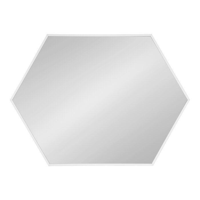 Zaliki Mid Century Hexagon Beveled Accent Mirror Mirror
