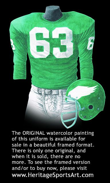 more photos b988d 5d09a Philadelphia Eagles 1960 uniform artwork | Philadelphia ...