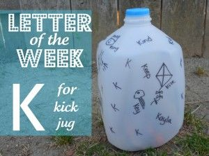Letter K For Kick The Jug Of Week Activities