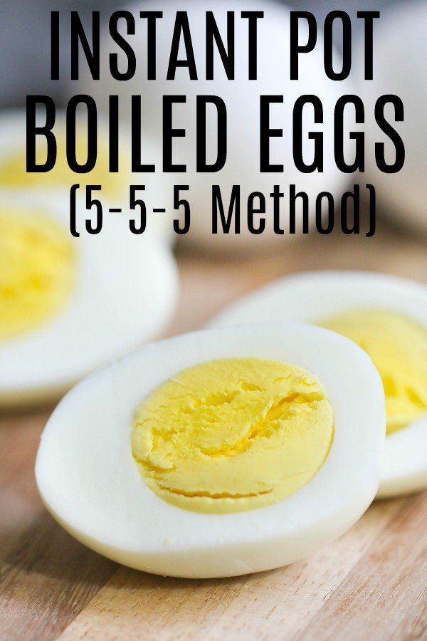 How to Cook Hard Boiled Eggs in the Instant Pot (5-5-5 Method)