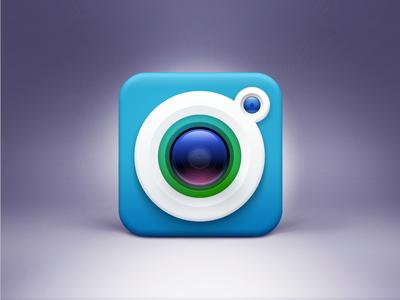 Camera Icon design, Iphone icon, App icon