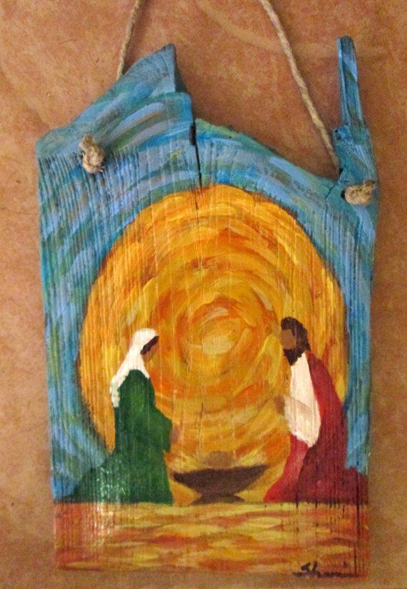 Nativity Scene 6 by SherrieConawayArt on Etsy, $36.00