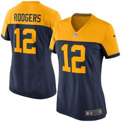 Women s Green Bay Packers Aaron Rodgers Nike Navy Alternate Game Jersey 95aef3a99
