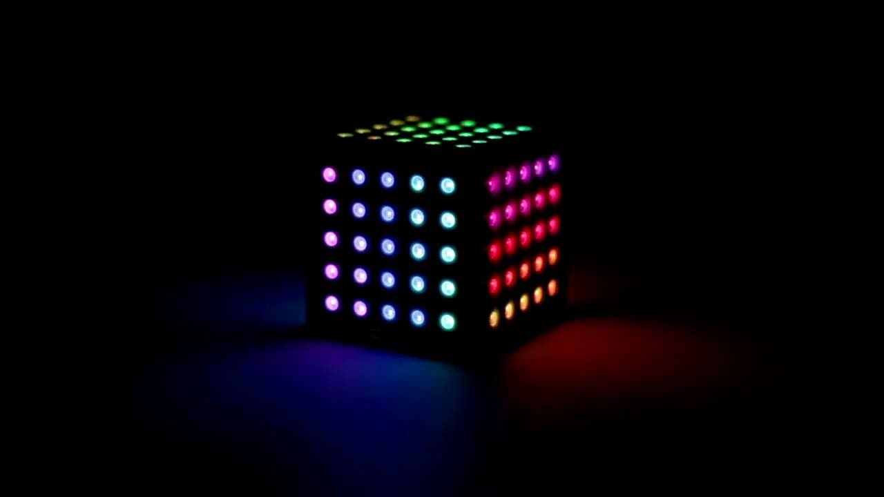 WS2812 NeoPixel Arduino LED Cube with AR and 3D Attitude Estimation