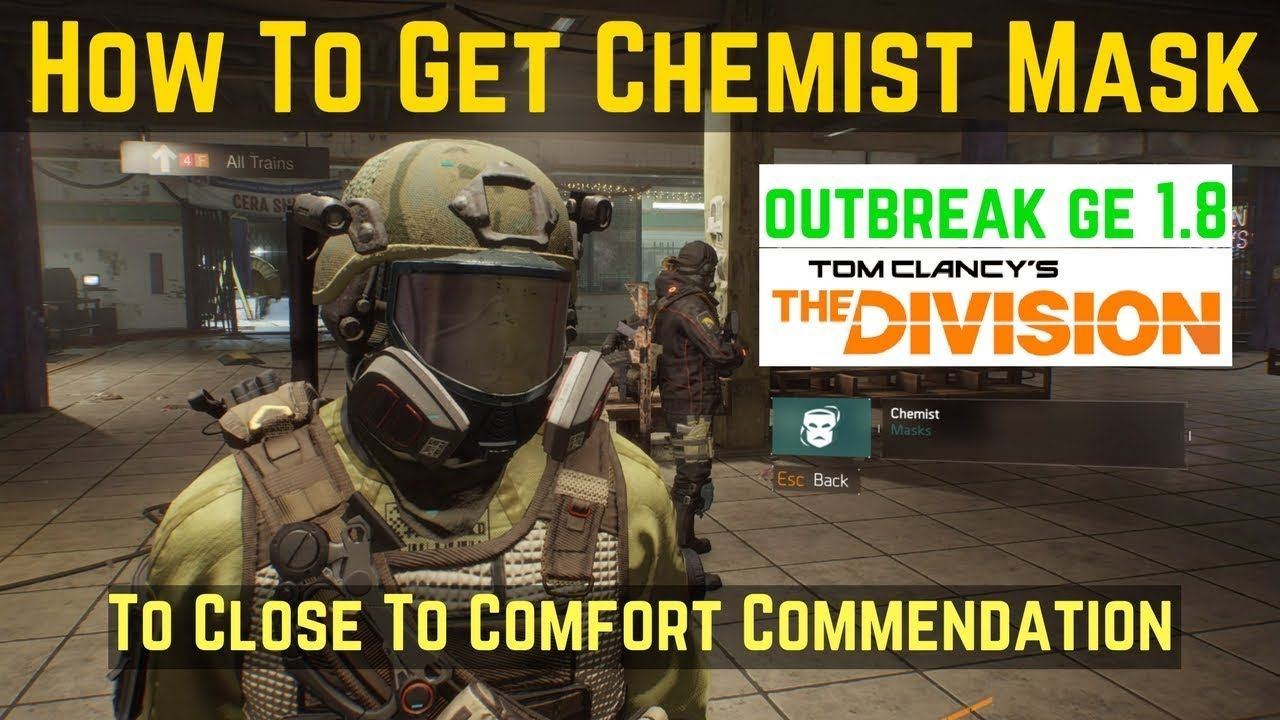 The Division How To Get Chemist Mask (To Close To Comfort