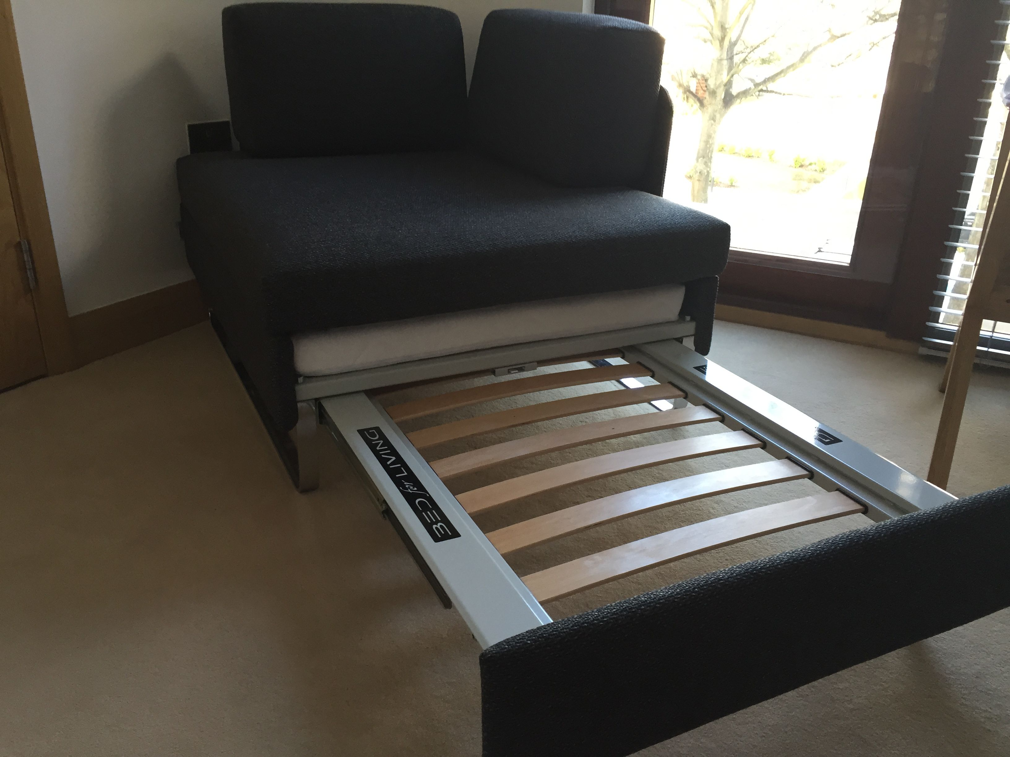 Hocker single chair bed, for all the time use. Any fabric