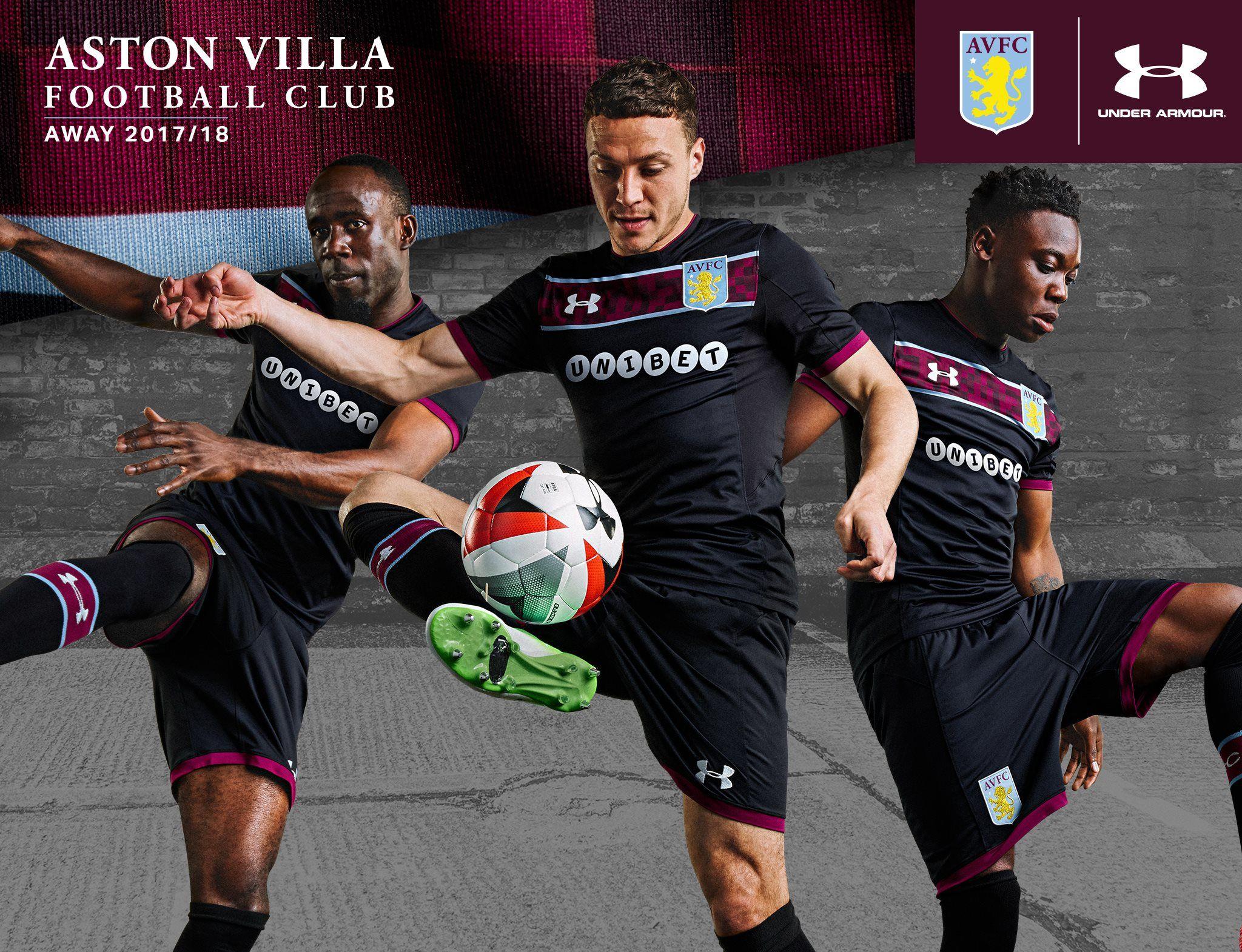 Camisas do Aston Villa 2017-2018 Under Armour  78e928607acc0