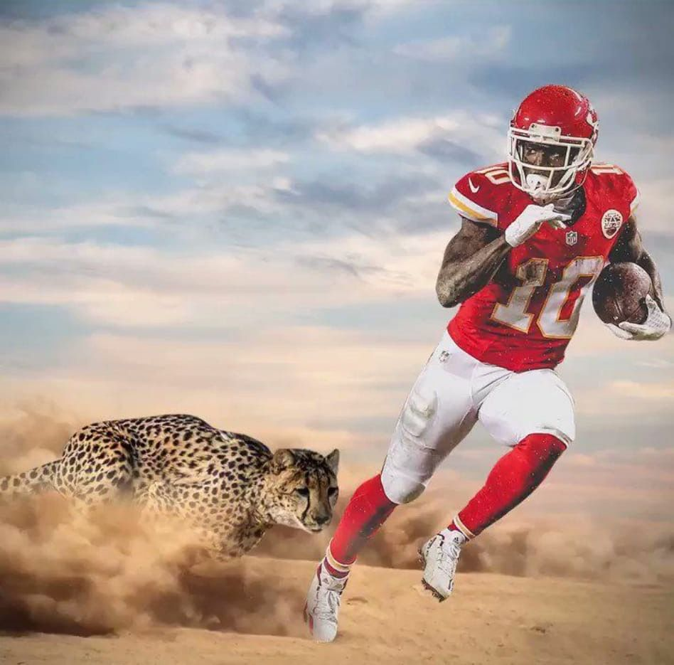 Tyreek Hill aka Cheetah 🏈 ️🏈💛 in 2020 Kansas city chiefs