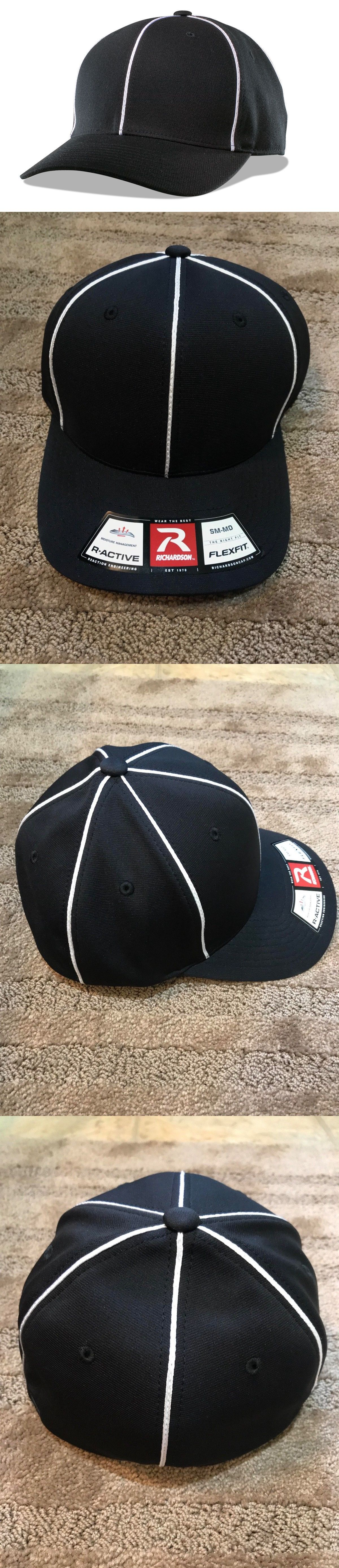 4b93c9f30e3 Hats and Headwear 159057  Richardson 485 Referee Hat Cap Black White  Official Referee All Sizes