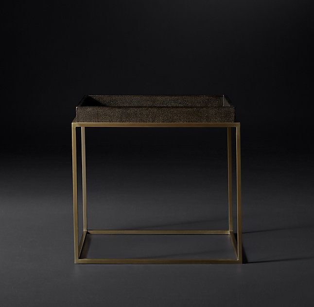 Hudson Shagreen Tray Rectangular Side Table